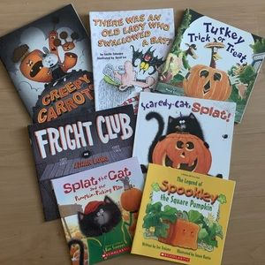 Bundle of Halloween/Fall Paperback Books for Kids